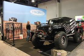 jeep jk suspension sema 2017 jk wrangler and shocks from radflo suspension technology