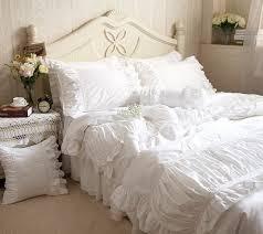 aliexpress com buy luxury white ruffle bedding white ruffle