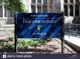Yale Flag Sign Outside Sterling Law Building Home To Yale Law Yale