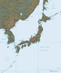 Physical Map Of East Asia by East Asia Japan And Koreas