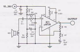 dynamic mic preamplifier circuit