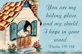 free printable christian message cards you are my hiding place
