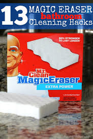 can you use magic eraser on cabinets 13 magic eraser bathroom cleaning hacks raising whasians