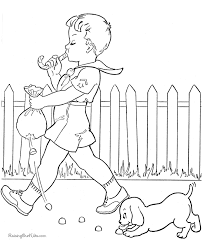 fun coloring book pictures dog