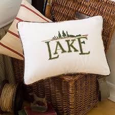 Camp Bedding Lodge Lake Camp Fishing Decorative Pillows By Taylor Linens