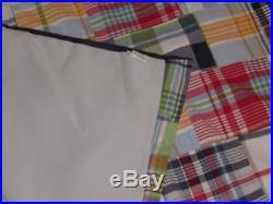 Pottery Barn Madras Curtains Two Pottery Barn Madras Blackout Curtain Panels Navy