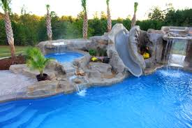 bedroom likable backyard oasis pools custom pool faux rock