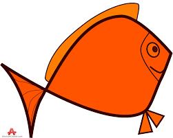 cartoon orange fish free clipart design download