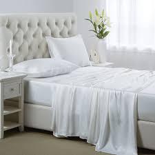 White Silk Bedding Sets 25mm 4pcs Silk Sheets Set By Oosilk