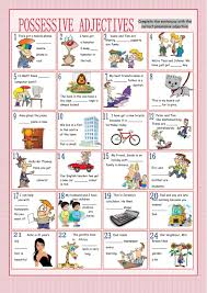 possessive adjectives interactive worksheets
