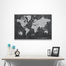 Pin World Map by World Travel Map Pin Board W Push Pins Modern Slate Conquest Maps