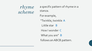 Rhyme Scheme Worksheet Poetry Terms Alliteration Repetition Of Consonant Sounds At The