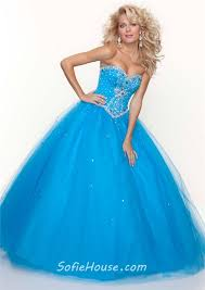 ball gown sweetheart floor length fuchsia tulle beaded prom dress