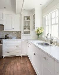 Kitchen Cabinets White Shaker Best 25 Wood Floor Kitchen Ideas On Pinterest Timeless Kitchen