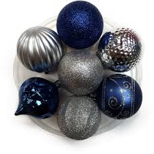 holiday time christmas ornaments 60mm shatterproof ornament set
