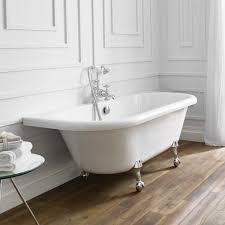 freestanding baths bathroom supastore april kildwick back to wall freestanding bath 1700 x 750 with bath feet
