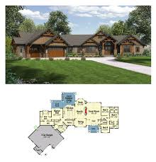 plan 23609jd one story mountain ranch home with options ranch
