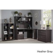Bush Furniture Corner Desk Bush Furniture Cabot Corner Desk With Hutch Lateral File And 6