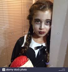 Halloween Costumes Addams Family Make Up Halloween Costume Plaids Funny Party Wednesday Addams