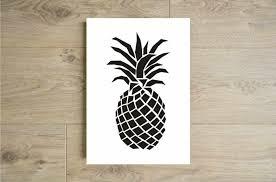 affiche cuisine affiche ananas noir et blanc poster ananas noir et blanc affiche