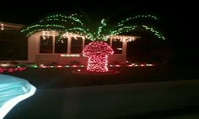 palm tree christmas tree christmas lights decoration