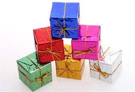 gift box shape merry tree ornaments home