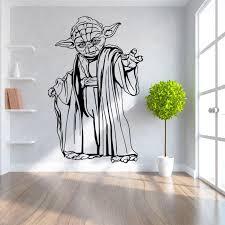 diy home decor wall star wars wall stickers master yoda home decor diy creative