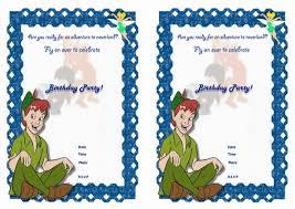 art birthday invitations peter pan birthday invitations u2013 birthday printable