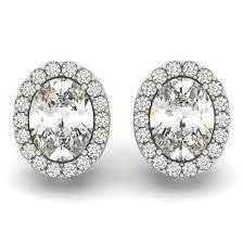 moissanite earrings michael jewelry 2 carat oval forever one moissanite