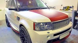 matte red range rover range rover in matte red aluminium wrap youtube
