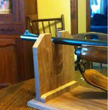 custom built rifle cleaning stand