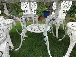 Cast Aluminium Garden Table And Chairs Large Cast Aluminium Garden Set Table And 6 Chairs In