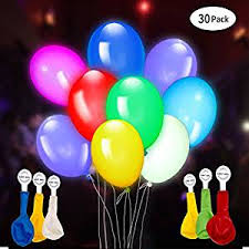 led light up balloons walmart amazon com 30 pack led light up balloons premium mixed colors