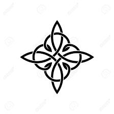 celtic knots elegant cross weaven tattoo template royalty free