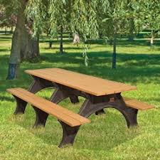recycled plastic picnic table with arched frame art series