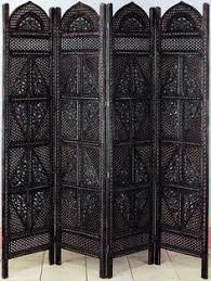 Room Divider Screens Amazon - amazon com benzara villa este wood room divider 4 panel carved