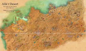 World Map Of Deserts Alik U0027r Desert Map The Elder Scrolls Online Game Maps Com
