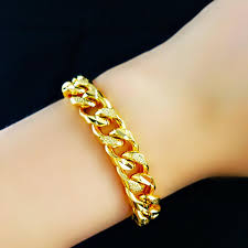 simple gold bracelet jewelry images Gold men bracelets watch chains twill chain foreign trade jpg