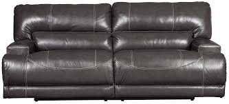 mccaskill gray power reclining sofa the furniture mart