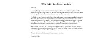 Business Letter Offer offer letters business letter exles