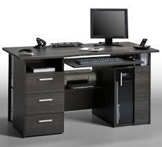 Gray Computer Desk Medera Computer Work Station In Wood And Grey Gloss Computer