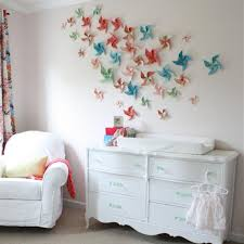 Paper Wall Colorfuls Handmade Stars Small Room Decorating Ideas