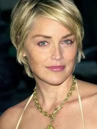 bobshortthinhair squareface sharon stone cute short hair cuts for women with square faces
