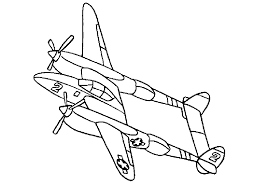 airplane coloring page 4934