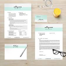 modern resume cover letter business card thank you note