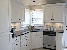 kitchen graceful kitchen white backsplash cabinets black granite