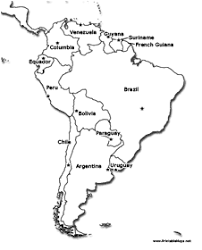south america map with country names and capitals south america printable maps