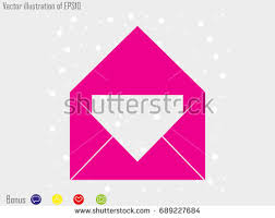 cover letter sign symbol vector illustration stock vector