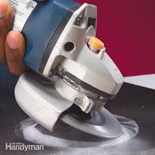how to cut angles in front corners of hair how to cut tile with a grinder family handyman