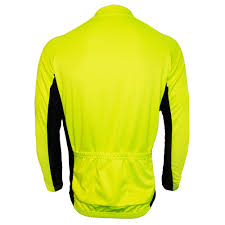 hi vis cycling jacket j2x fitness velocity 1 4 zip hi viz high visibility long sleeve